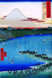 Hiroshige_Mount_Fuji_seen_across_a_ray
