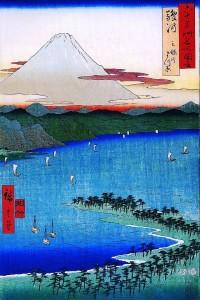 Hiroshige_Mount_Fuji_seen_across_a_ray