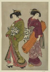 Kitao_Shigemasa_(1777)_Geisha_and_a_servant_carrying_her_koto