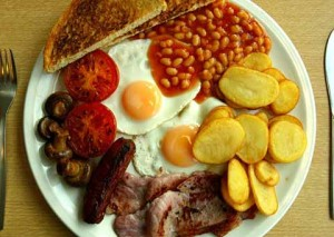 French love full English breakfast