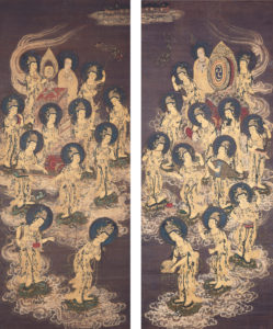twenty-five_bodhisattvas_descending_from_heaven_c-_1300